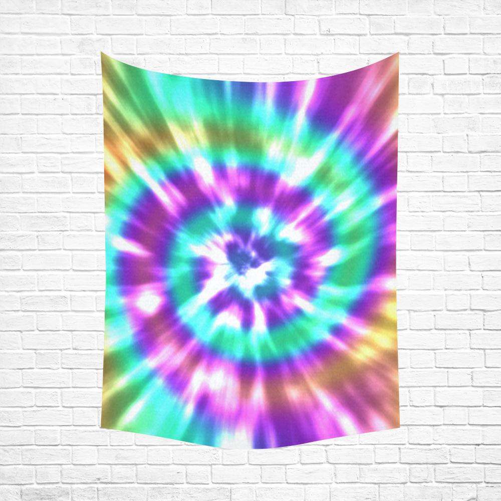 "Tie Dye Summer Cotton Linen Wall Tapestry 60""x 80"""