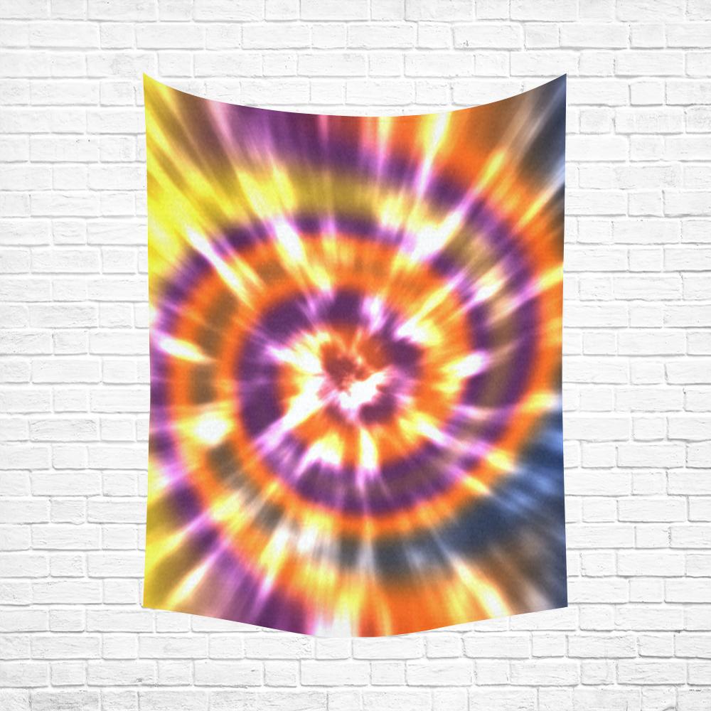 """Tie Dye Multi Cotton Linen Wall Tapestry 60""""x 80"""""""