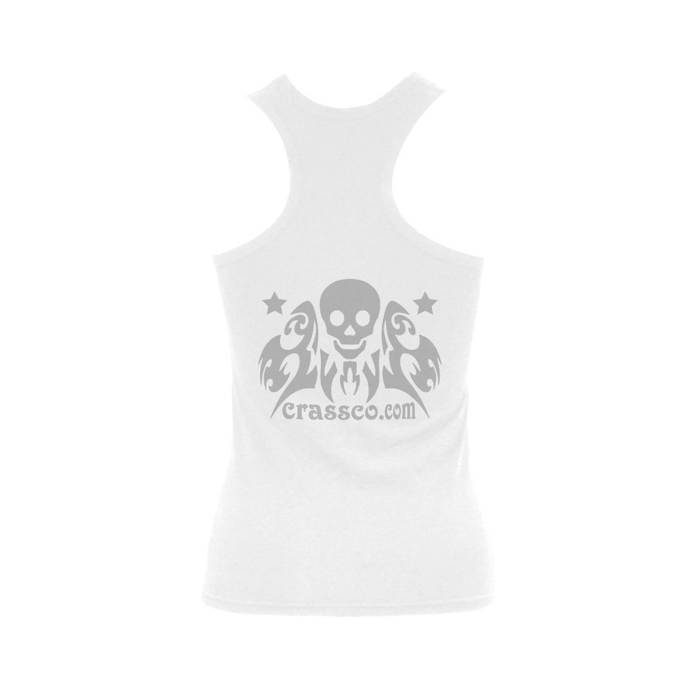 CRASSCO ROCKT TOP Women's Shoulder-Free Tank Top (Model T35)