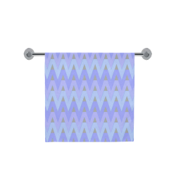"Cool Blues and Chevrons Bath Towel 30""x56"""