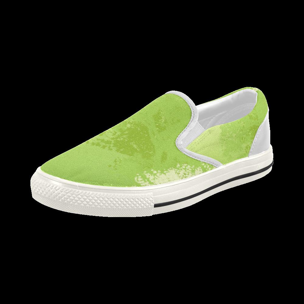 Green World Trees Think Green Design Women's Slip-on Canvas Shoes (Model 019)