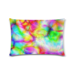 """psychedelic tropical blue yellow pink pattern ZT06 Custom Zippered Pillow Case 16""""x24""""(Twin Sides)"""