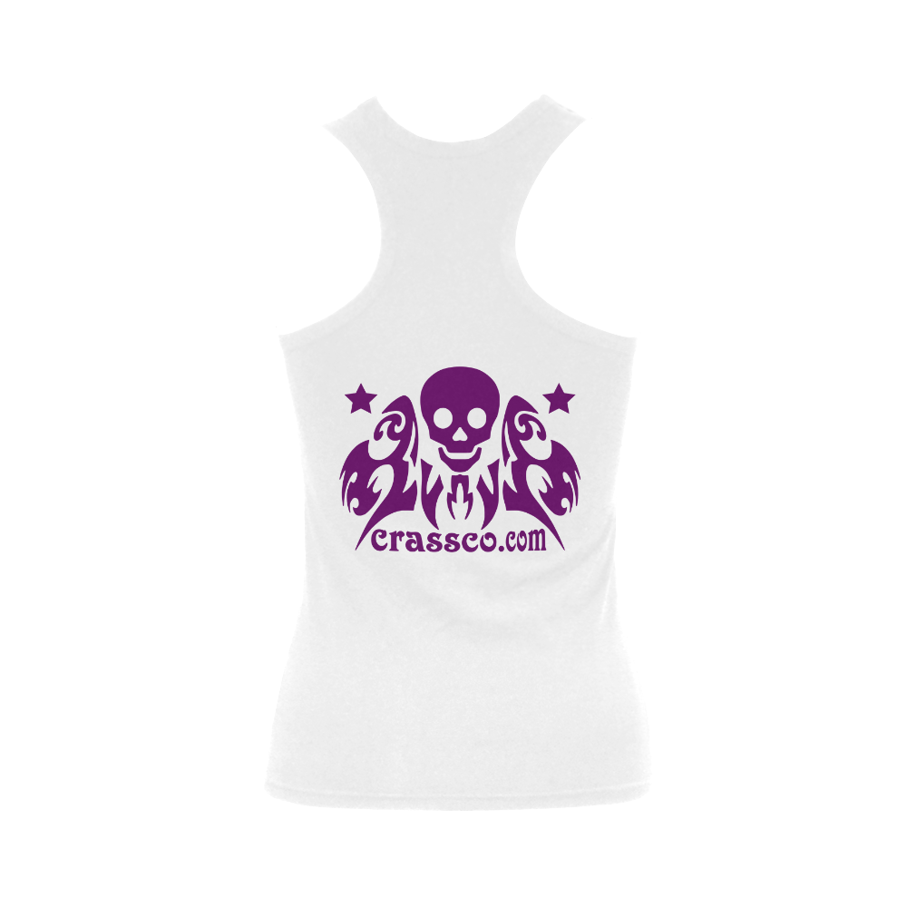 SKULL TOP Women's Shoulder-Free Tank Top (Model T35)
