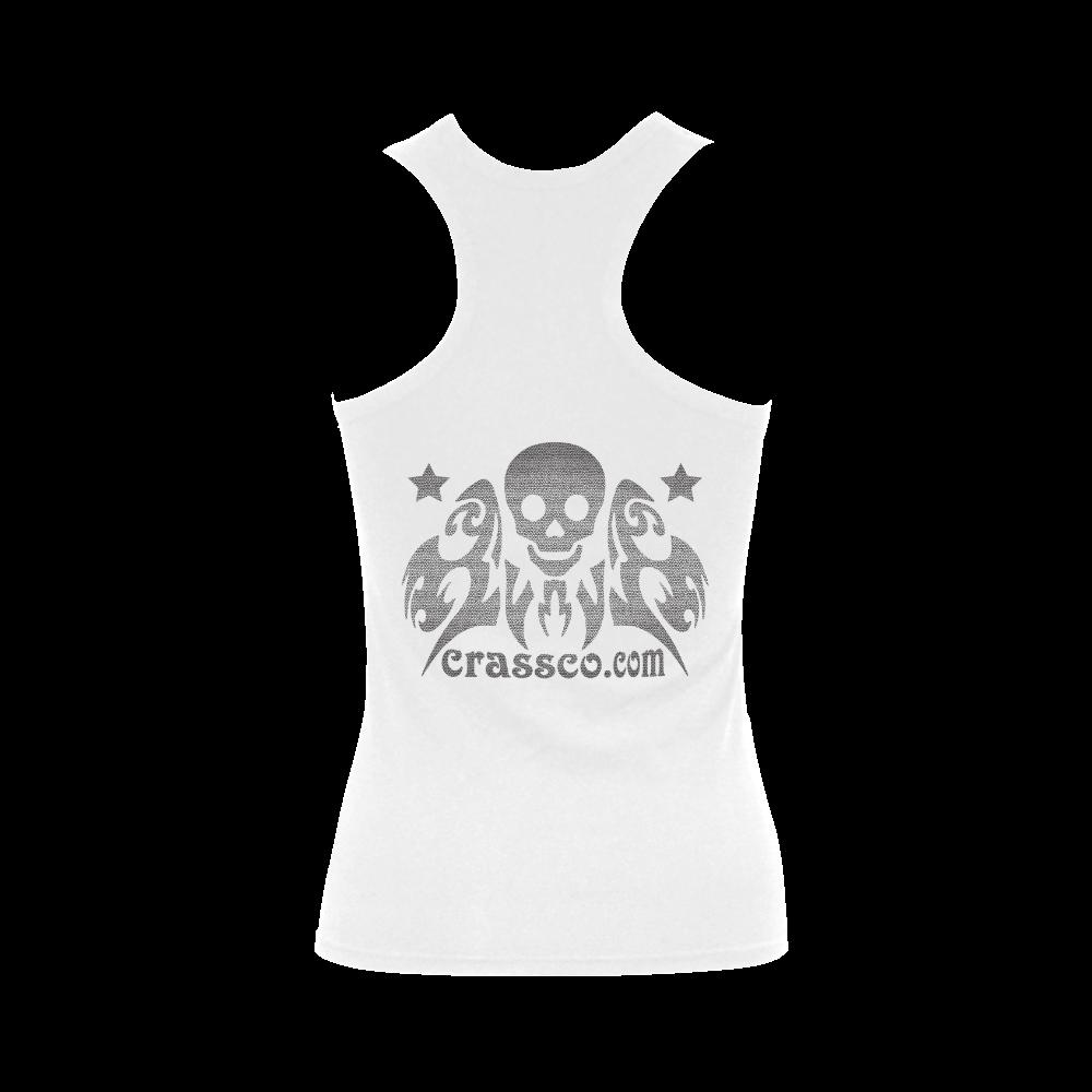 CRASSCO ROCKT BG Women's Shoulder-Free Tank Top (Model T35)