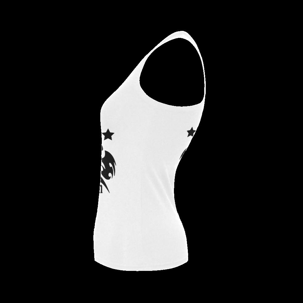 SKULL ANGEL TOP Women's Shoulder-Free Tank Top (Model T35)