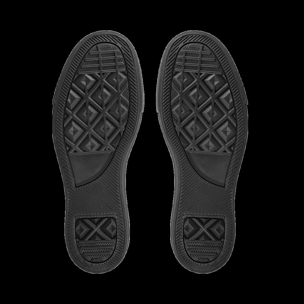 LUXURY GOLD OPTIC Women's Unusual Slip-on Canvas Shoes (Model 019)