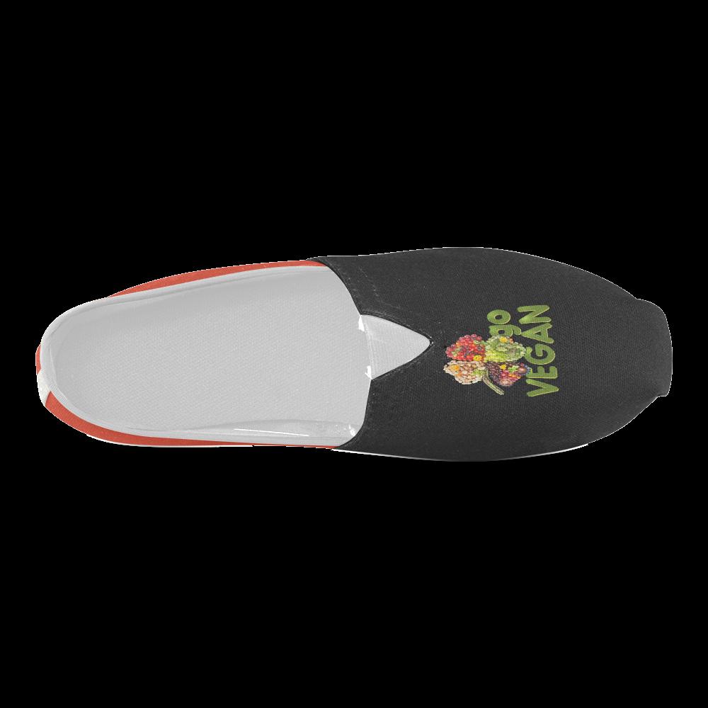 Go Vegan Clover Think Green Fruits Vegetables Unisex Casual Shoes (Model 004)