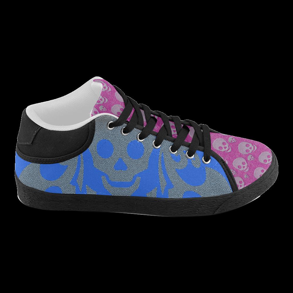 SKULL FAN Men's Chukka Canvas Shoes (Model 003)