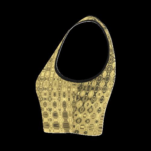 TEXTUR GOLD Women's Crop Top (Model T42)