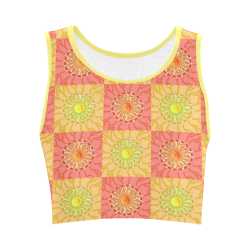 Chequered Sunshine Women's Crop Top (Model T42)