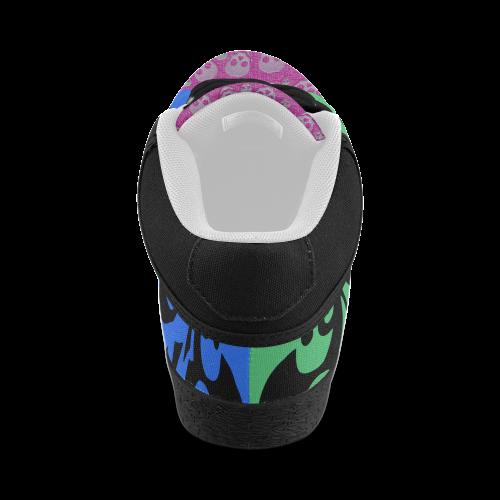 SKULL FUNKY Men's Chukka Canvas Shoes (Model 003)