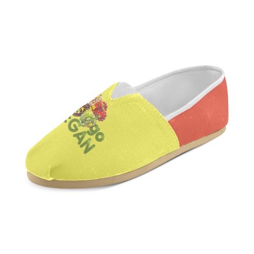 Go Vegan Clover Think Green Fruits Vegetables Unisex Casual Shoes (Model 004)