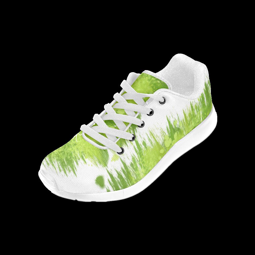 Spring Green Painting Design Women's Running Shoes (Model 020)
