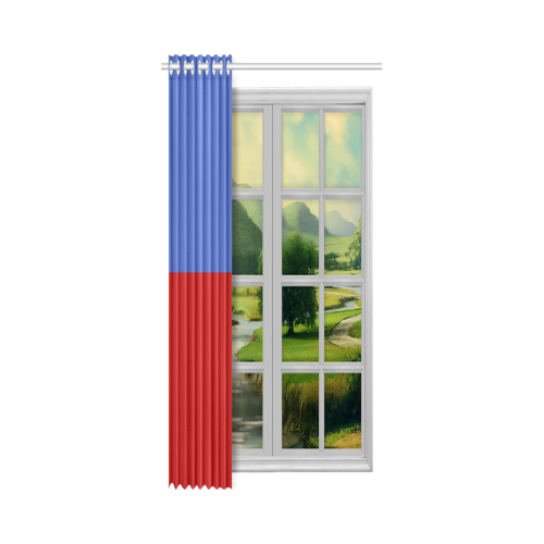 "Only two Colors - blue & red New Window Curtain 50"" x 108""(One Piece)"