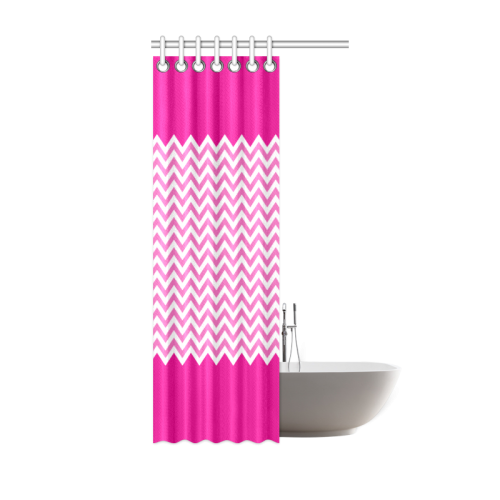 "HIPSTER zigzag chevron pattern white Shower Curtain 36""x72"""