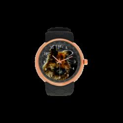 Mans Best Friend Men's Rose Gold Resin Strap Watch(Model 308)