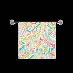 """zz0101 pink hippie flower watercolor pattern Bath Towel 30""""x56"""""""