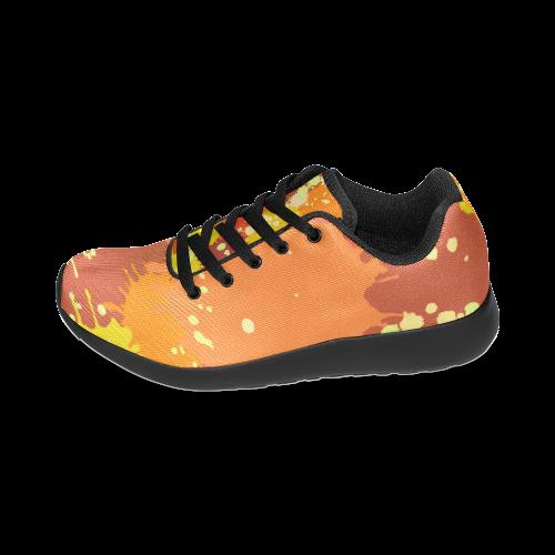 Summer Orange Yellow Splash Painting Women's Running Shoes (Model 020)