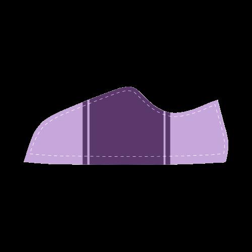 Lilac Ribbon Design Women's Canvas Shoes (Model 016)