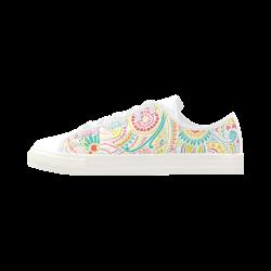 zz0101 pink hippie flower watercolor pattern Aquila Microfiber Leather Women's Shoes (Model 028)