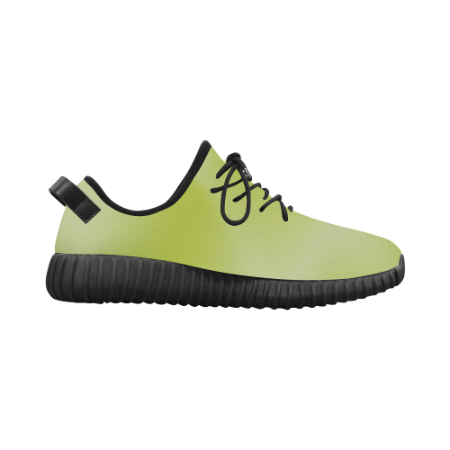Spring Green Colour Gradient Design Grus Women's Breathable Woven Running Shoes (Model 022)