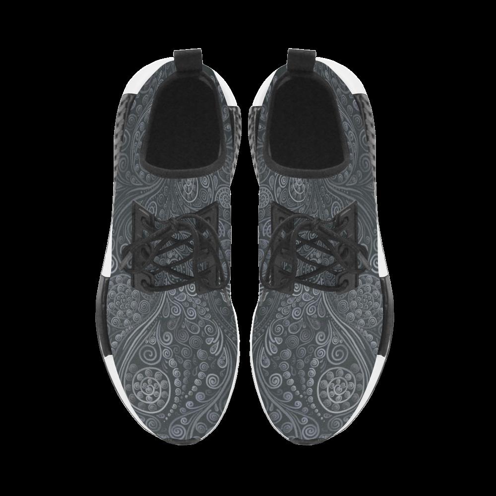 Soft Blue 3D Ornamental Women's Draco Running Shoes (Model 025)