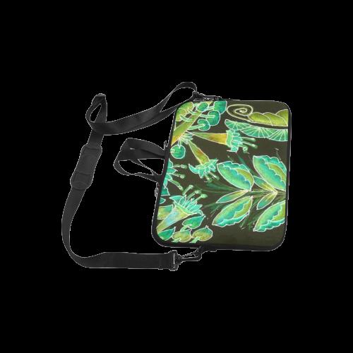 "Irish Garden, Lime Green Flowers Dance in Joy Laptop Handbags 10"""