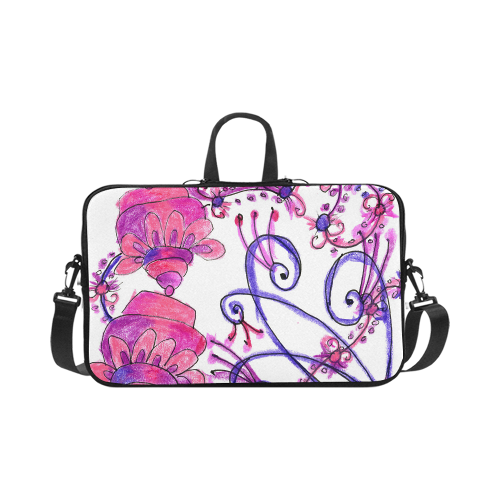 Pink Flower Garden Zendoodle, Purple Gardenscape Macbook Pro 17""