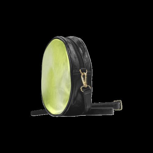 Spring Green Colour Gradient Design Round Sling Bag (Model 1647)