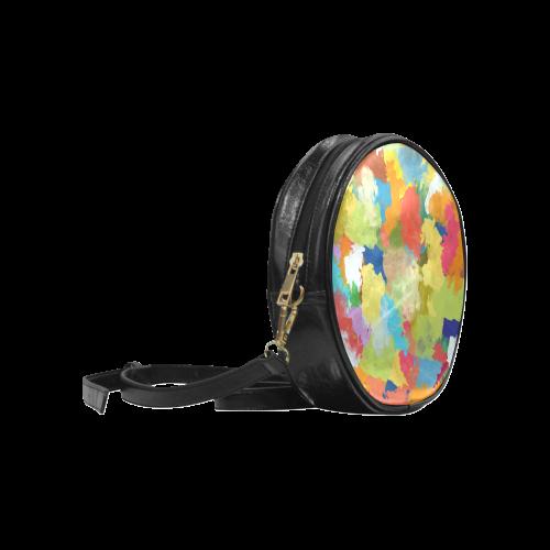 Summer Color Colorful Splash Design Round Sling Bag (Model 1647)