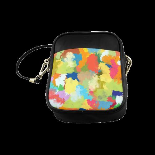 Summer Color Colorful Splash Design Sling Bag (Model 1627)