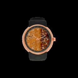 Bark Topaz Men's Rose Gold Resin Strap Watch(Model 308)
