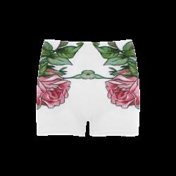 Roses Vintage Floral Briseis Skinny Shorts (Model L04)