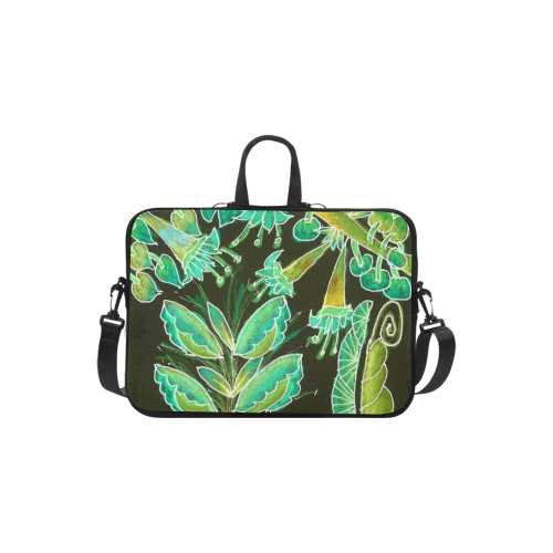 "Irish Garden, Lime Green Flowers Dance in Joy Laptop Handbags 11"""