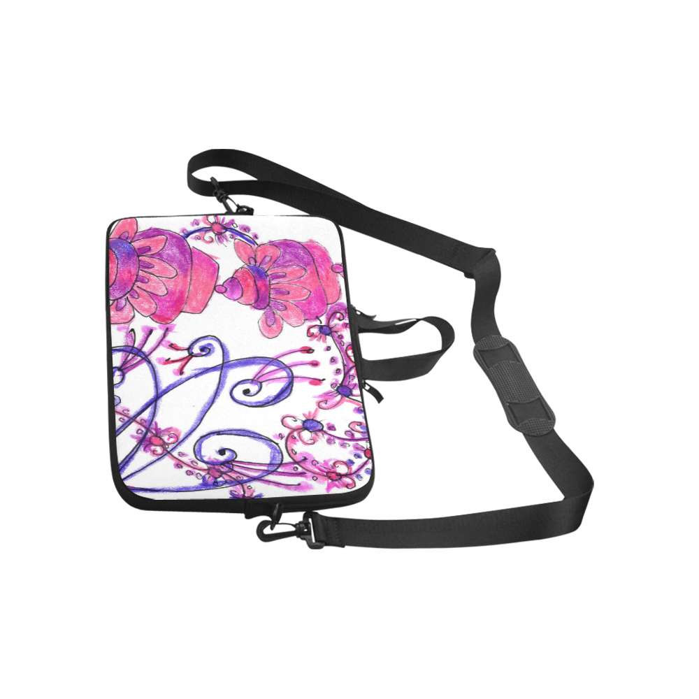 Pink Flower Garden Zendoodle, Purple Gardenscape Macbook Pro 15''