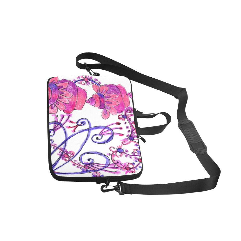"""Pink Flower Garden Zendoodle, Purple Gardenscape Classic Sleeve for 15.6"""" MacBook Air"""