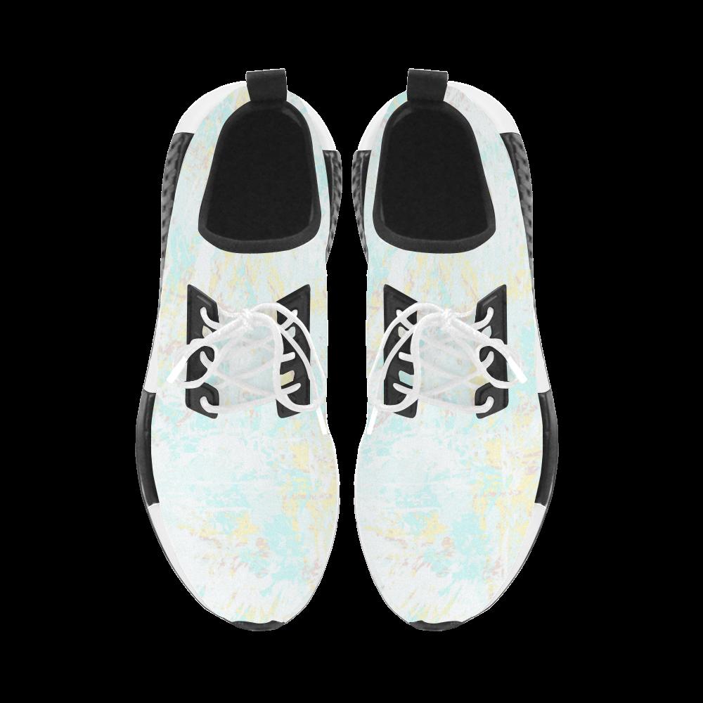 Bright Blue Yellow Grunge Design Women's Draco Running Shoes (Model 025)