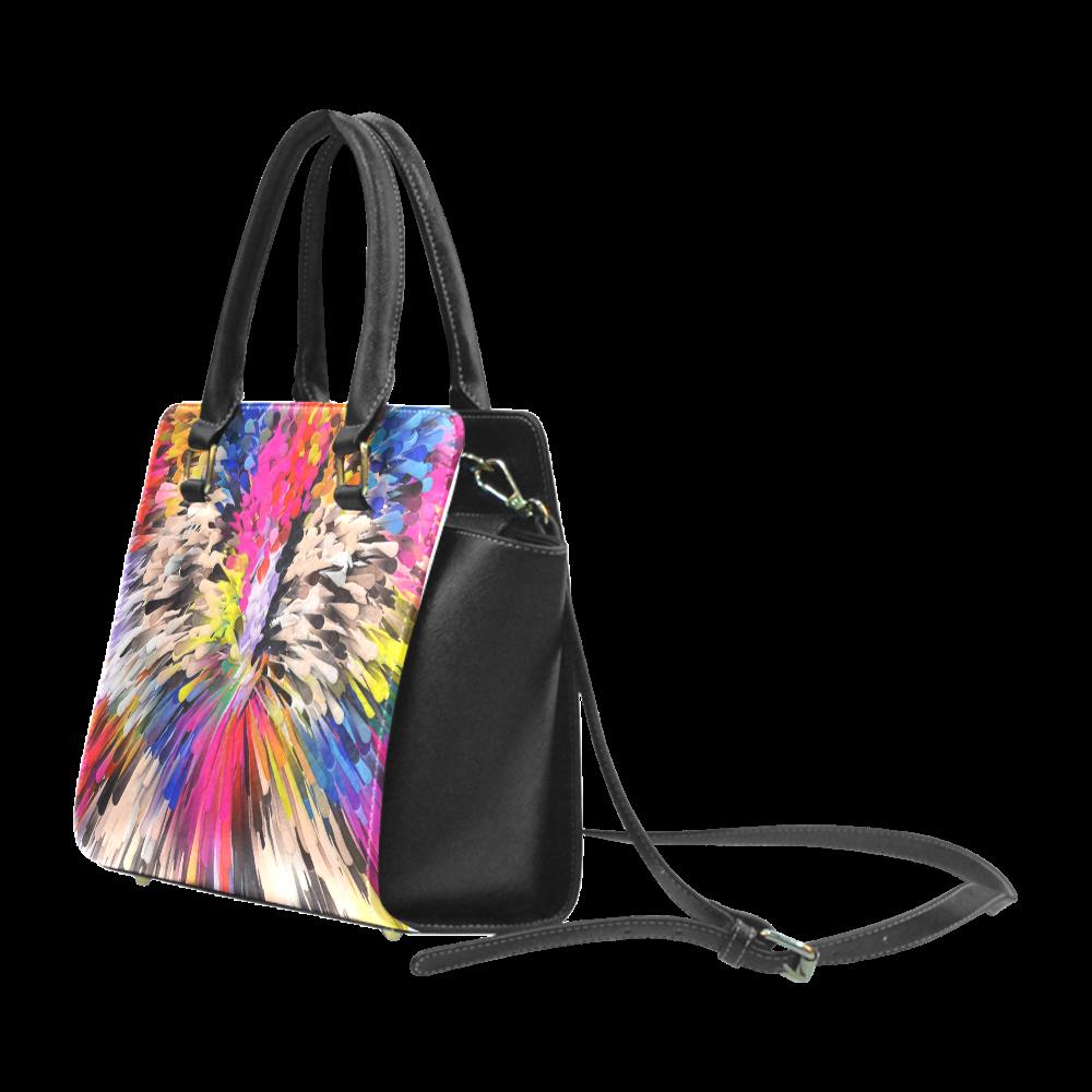 Art of Colors by ArtDream Rivet Shoulder Handbag (Model 1645)