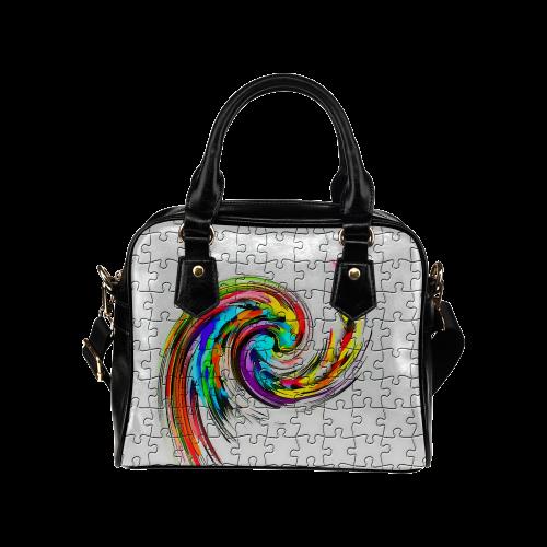 Puzzles Twister by Artdream Shoulder Handbag (Model 1634)
