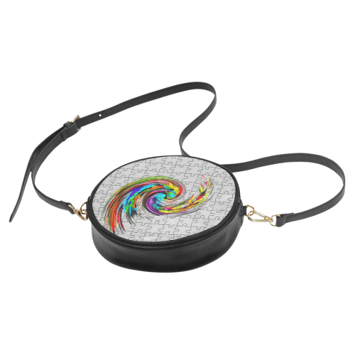 Puzzles Twister by Artdream Round Sling Bag (Model 1647)