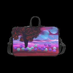 "Bubble Garden, Abstract Rose  Azure Wisdom Macbook Pro 17"""