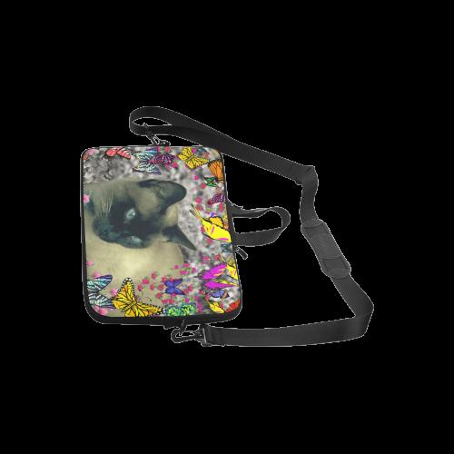 "Stella in Butterflies Cbocolate Point Siamese Cat Laptop Handbags 10"""