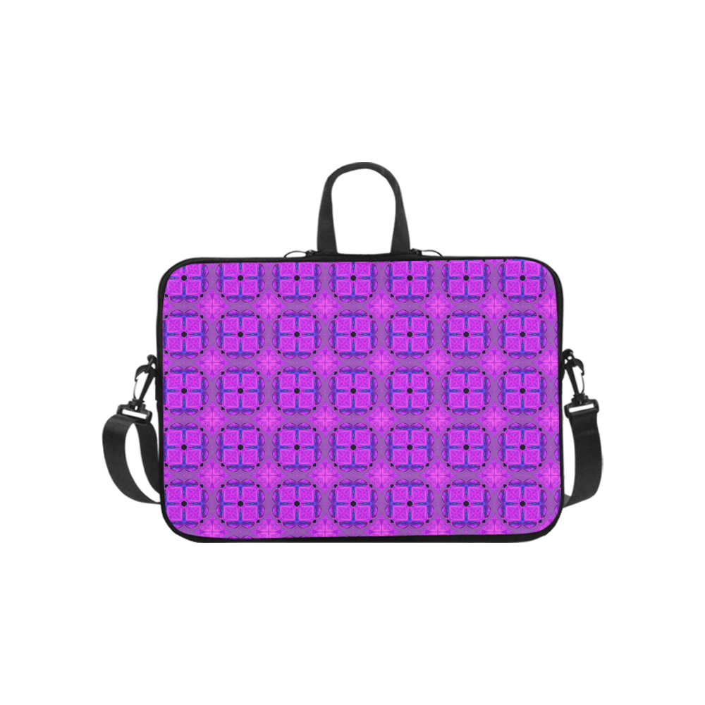 Abstract Dancing Diamonds Purple Violet Laptop Handbags 10""