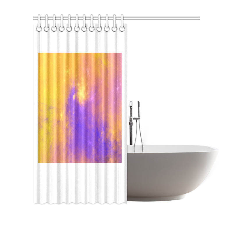 """Colorful Universe Shower Curtain 66""""x72"""""""