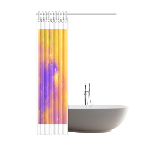 """Colorful Universe Shower Curtain 48""""x72"""""""