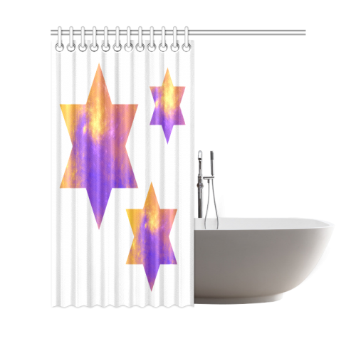 "Colorful Universe Stars Shower Curtain 69""x70"""