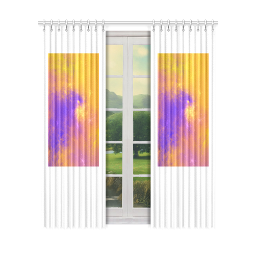 "Colorful Universe Window Curtain 50"" x 96""(One Piece)"