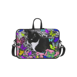 Freckles in Butterflies II Black White Tuxedo Cat Macbook Pro 15''