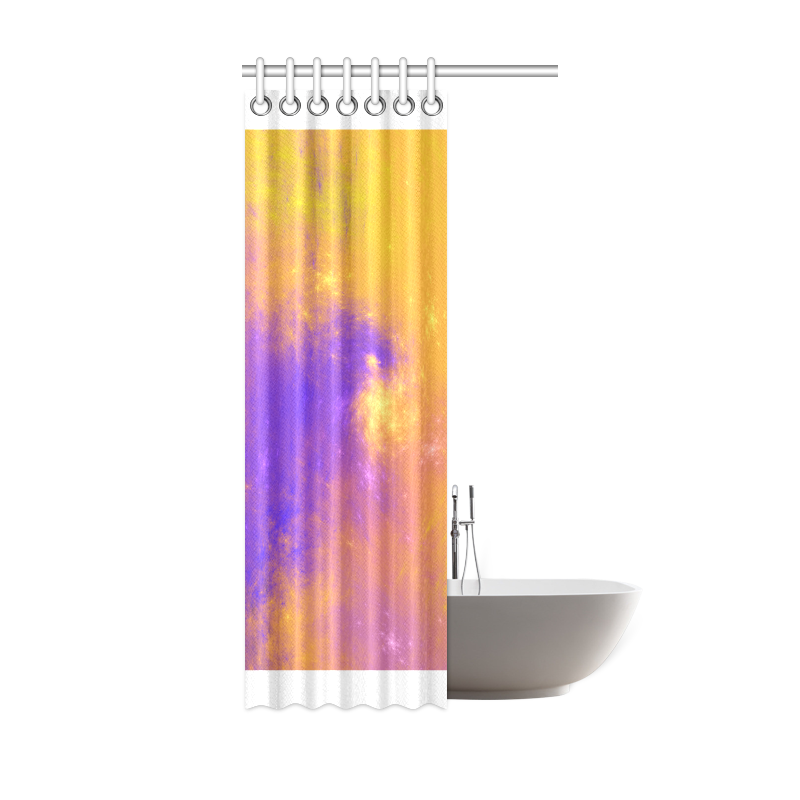 "Colorful Universe Shower Curtain 36""x72"""