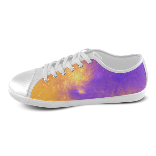 Colorful Universe Women's Canvas Shoes (Model 016)
